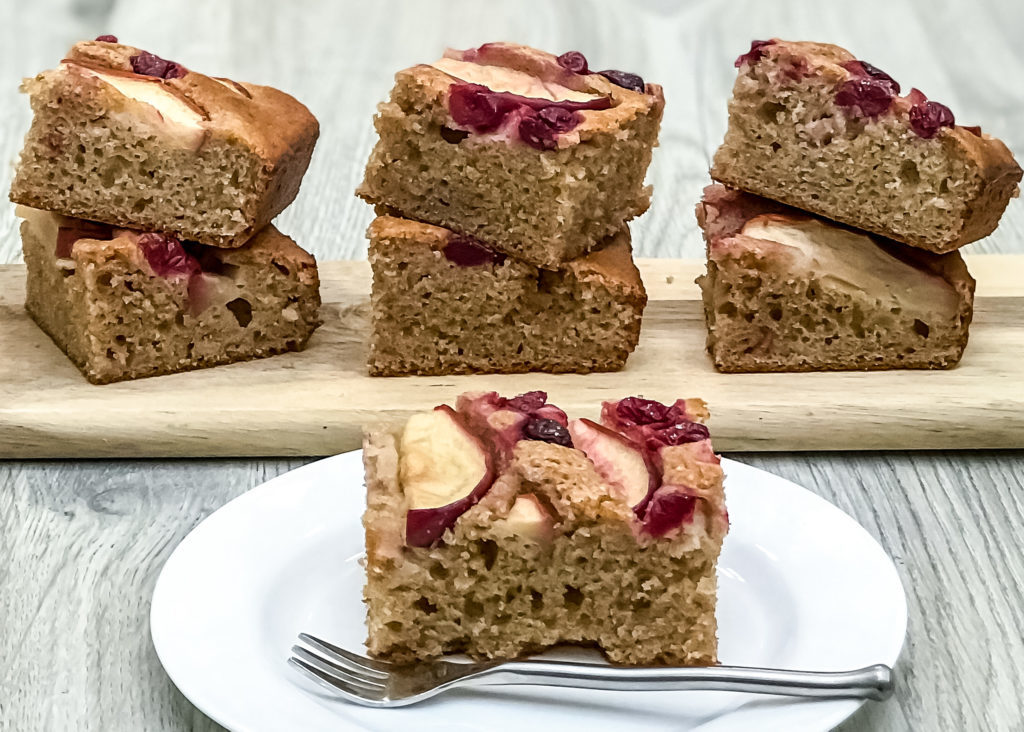 Healthy Apple Cranberry Coffee Cake