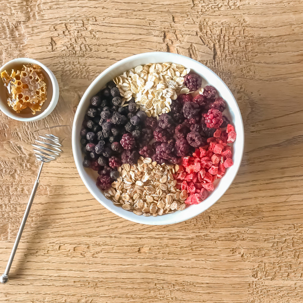 Dried Berry Yogurt Bowl