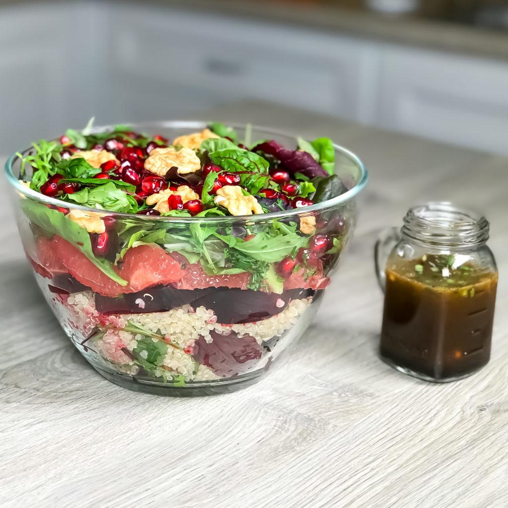 Quinoa and Beetroot Layered Salad