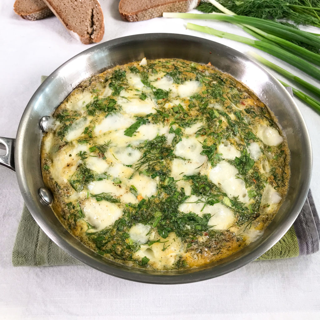 Ina Garten's Oven Baked Omelet with a healthy twist