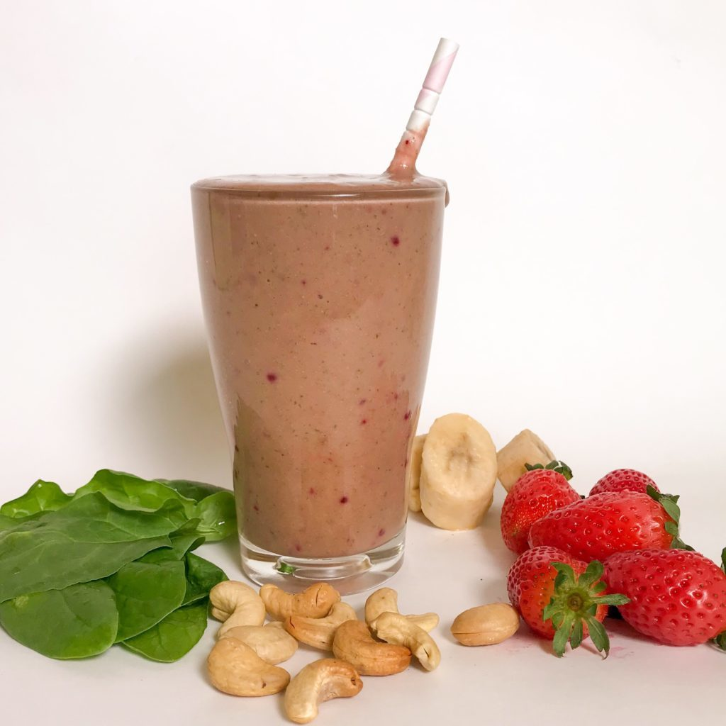 Healthier Strawberry and Banana Smoothie