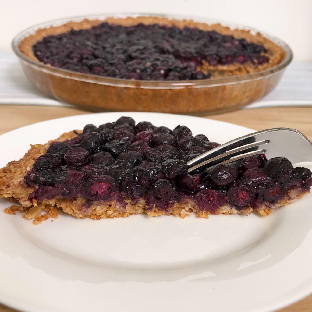 Healthy Blueberry Tart