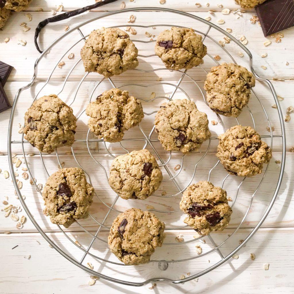 Healthy Chocolate Chunk Cookies Gluten free and Vegan