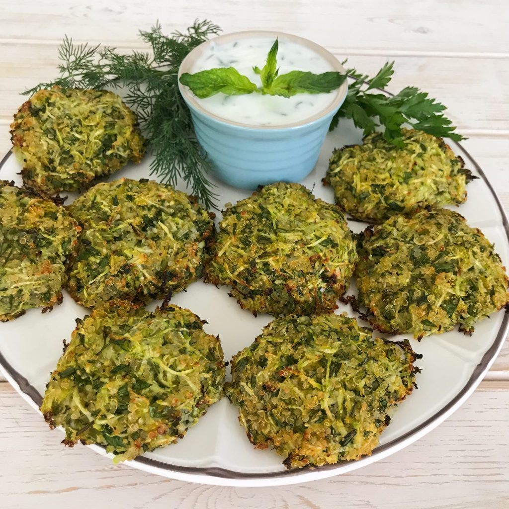 Zucchini and Quinoa Baked Fritters